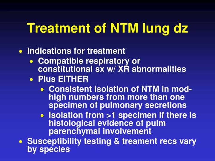 Treatment of NTM lung dz