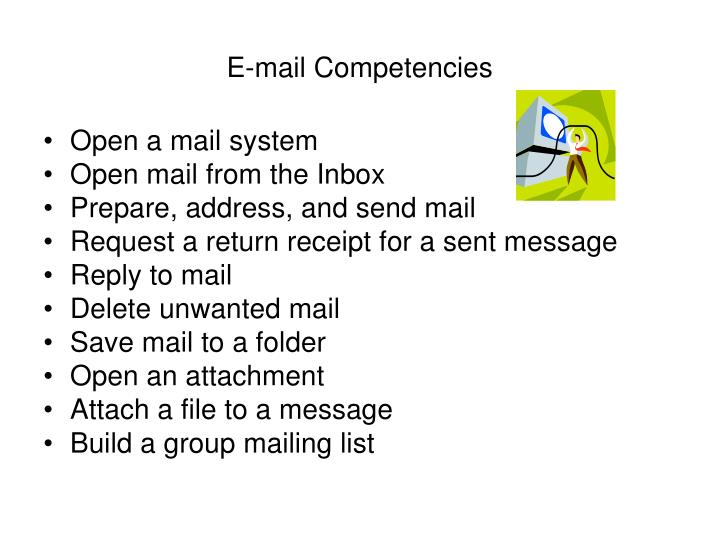 E mail competencies