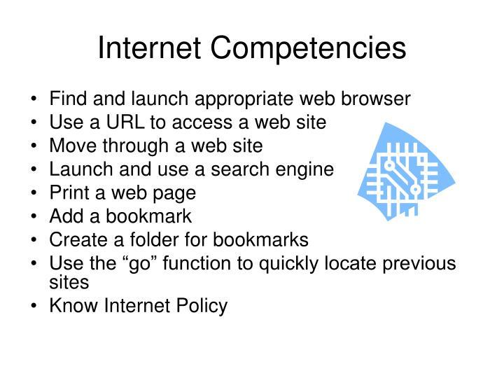Internet Competencies