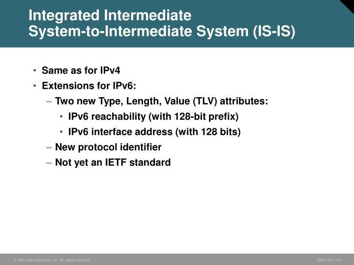 Integrated Intermediate