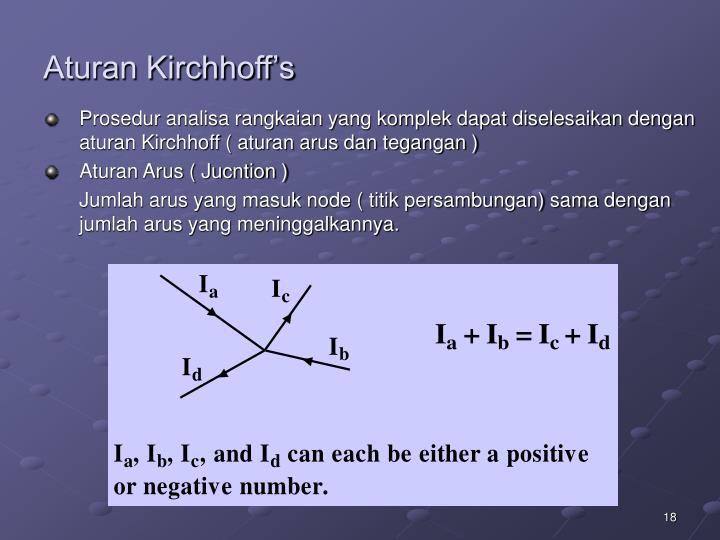Aturan Kirchhoff's