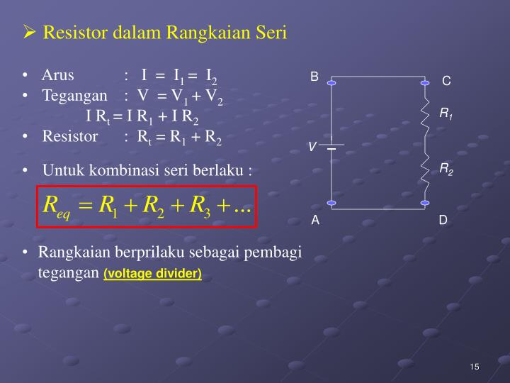 Resistor dalam Rangkaian Seri