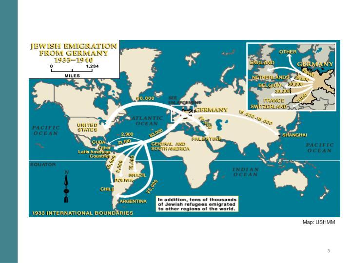 Map: USHMM