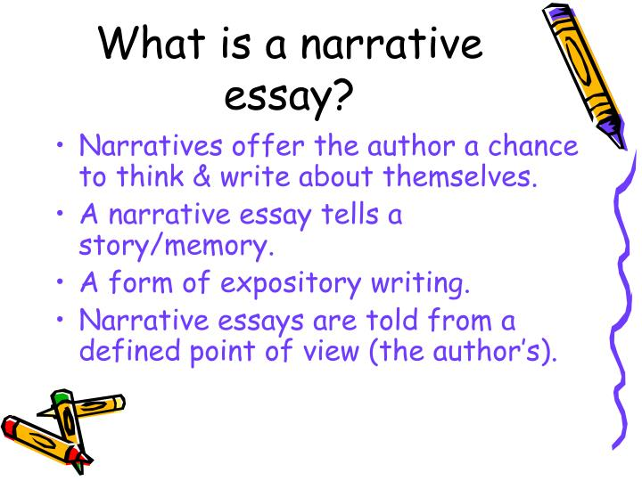 what is a narrative essay powerpoint