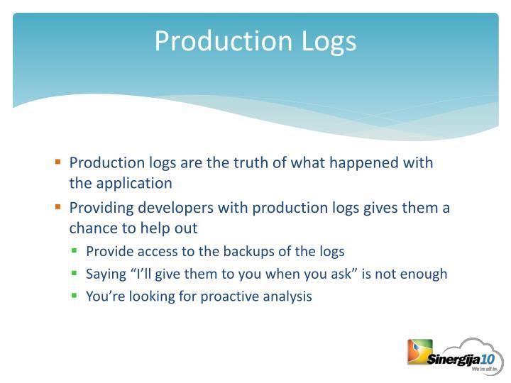 Production Logs
