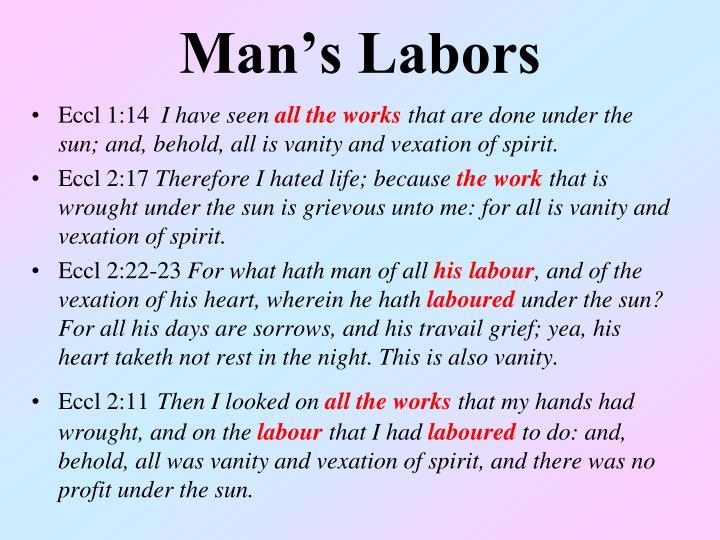 Man's Labors