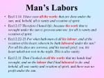man s labors