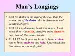man s longings