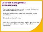 contract management arrangements