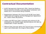 contractual documentation