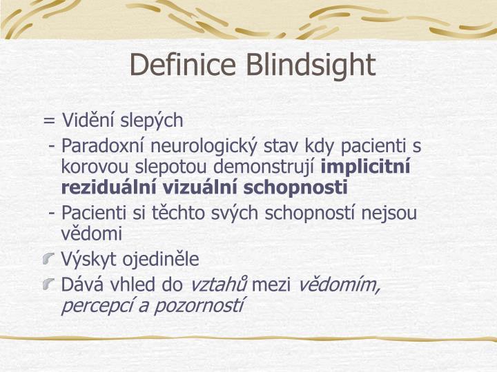 Definice Blindsight