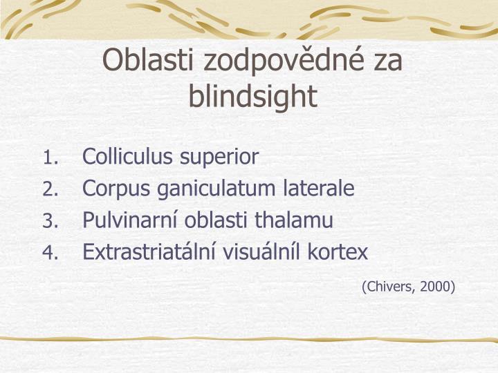 Oblasti zodpovdn za blindsight