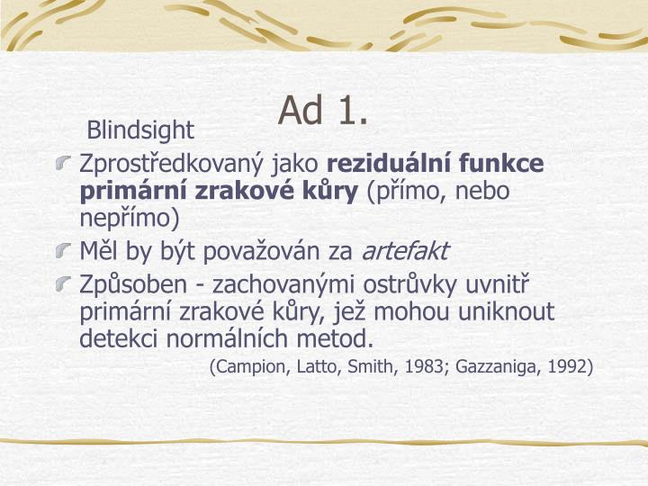 Ad 1.
