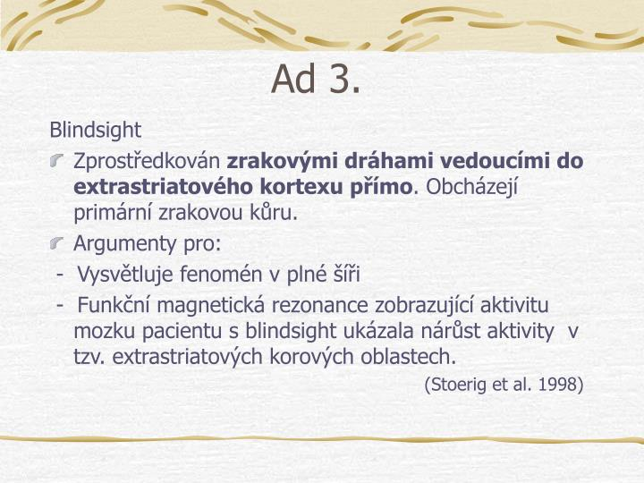 Ad 3.