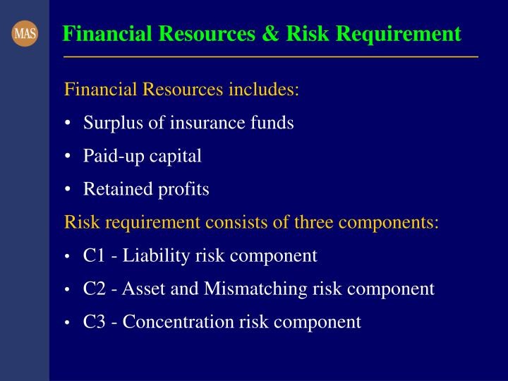 Financial Resources & Risk Requirement