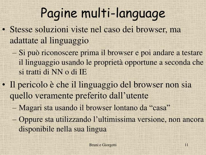 Pagine multi-language