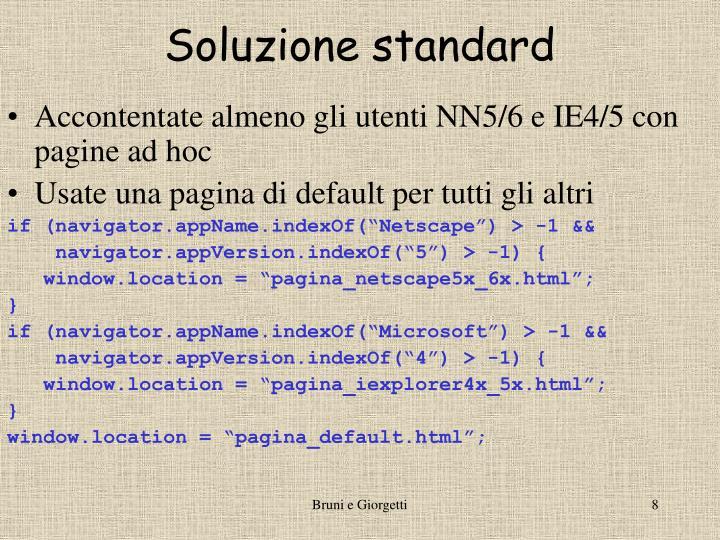 Soluzione standard