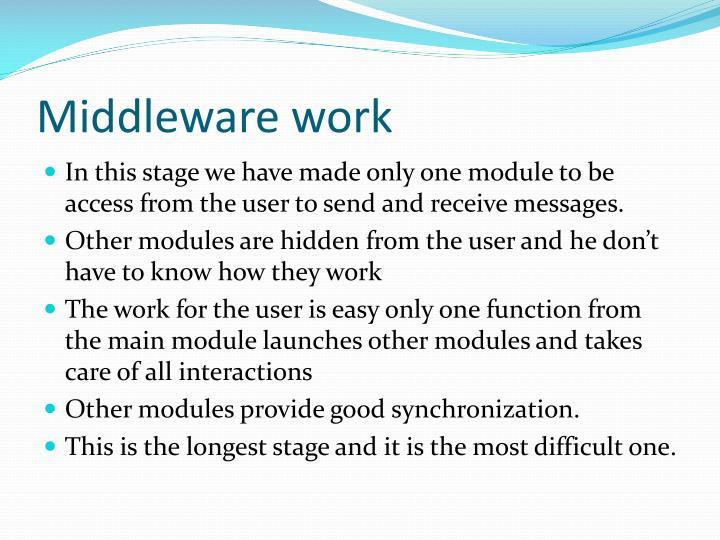 Middleware work