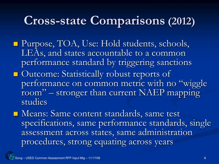 Cross-state Comparisons
