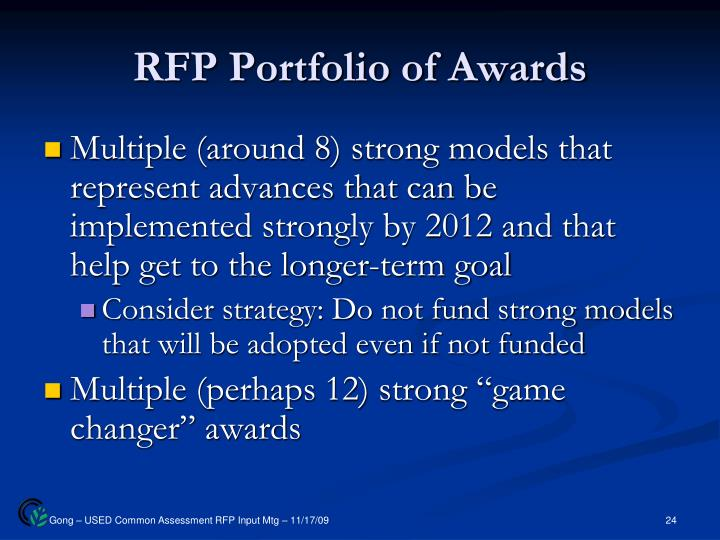 RFP Portfolio of Awards