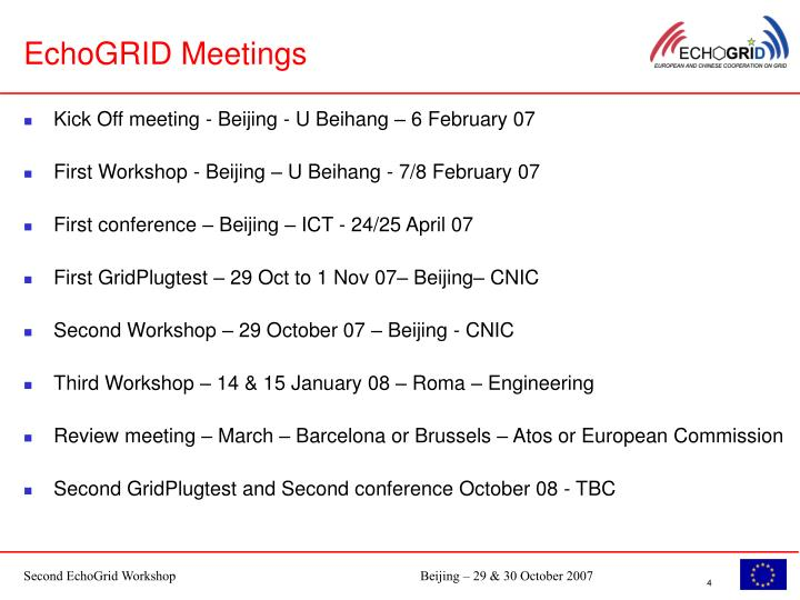 EchoGRID Meetings