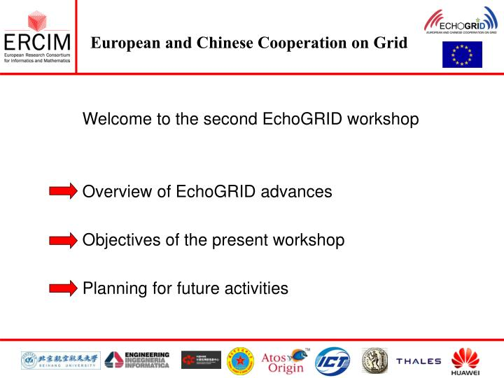 Welcome to the second EchoGRID workshop