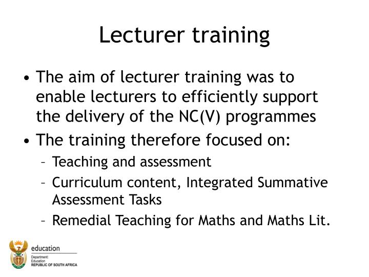Lecturer training