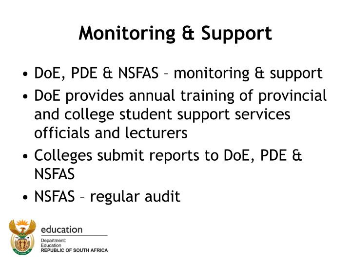 Monitoring & Support