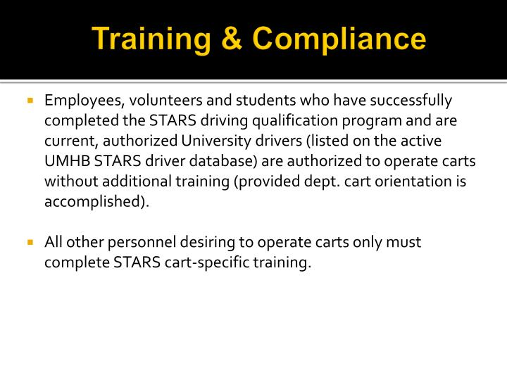 Training & Compliance