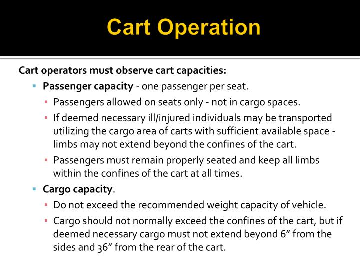 Cart Operation