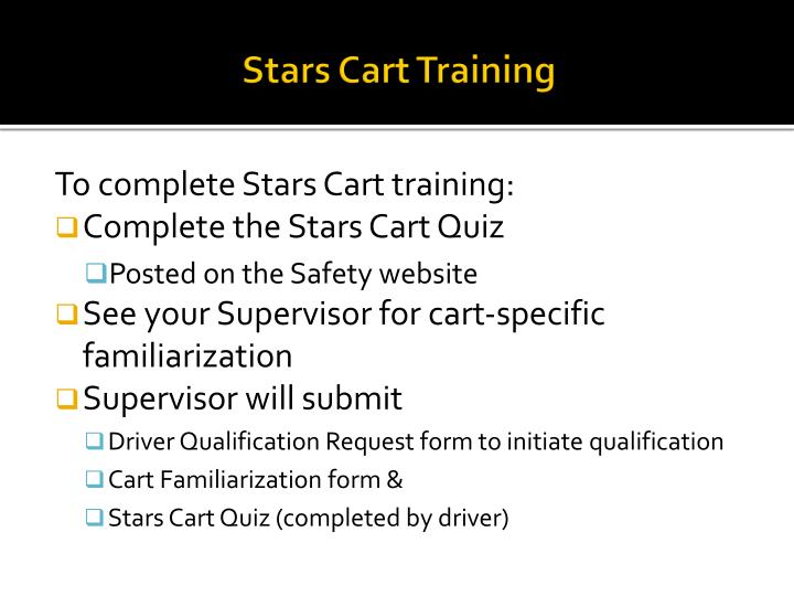 Stars Cart Training