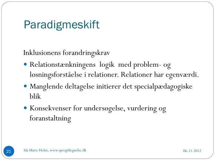 Paradigmeskift