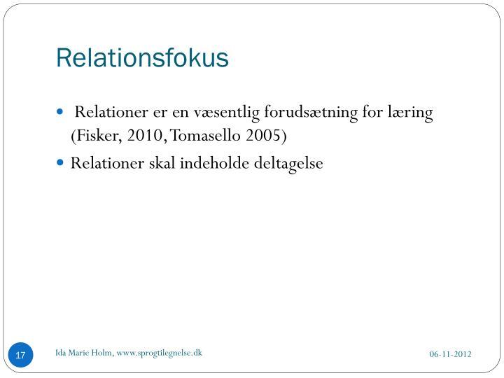 Relationsfokus