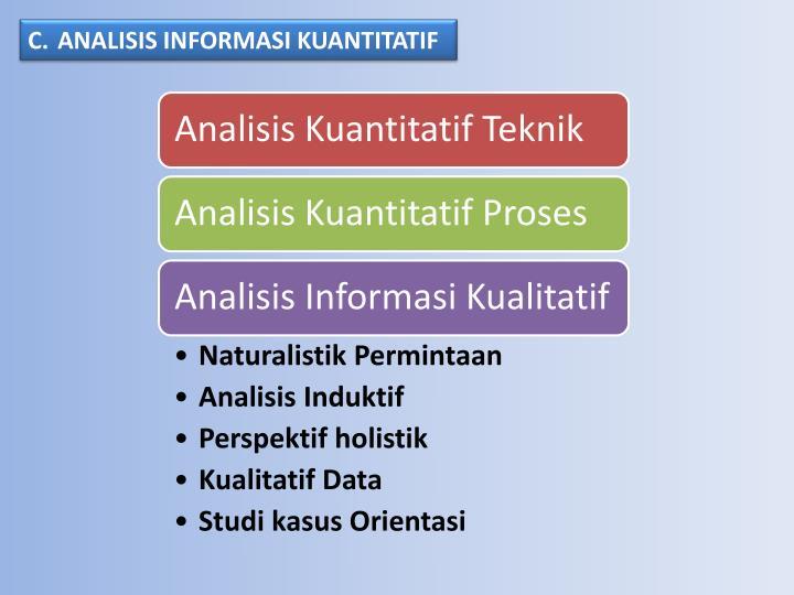 ANALISIS INFORMASI KUANT