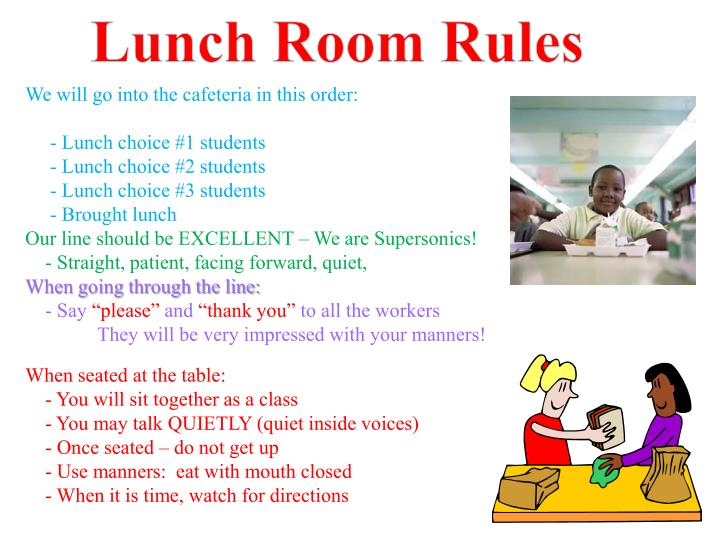 Lunch Room Rules