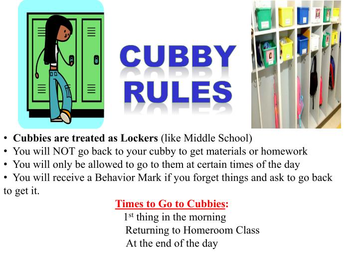 Cubby rules