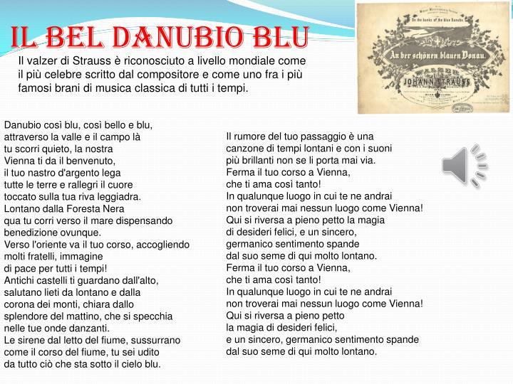 Il BEL DANUBIO BLU