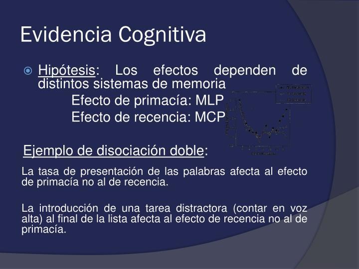 Evidencia Cognitiva