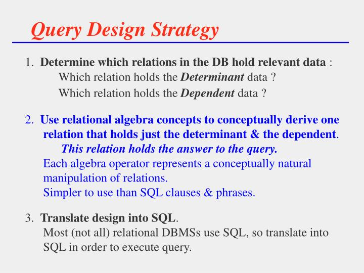 Query Design Strategy