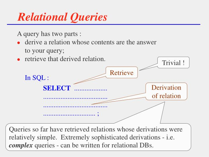 Relational Queries