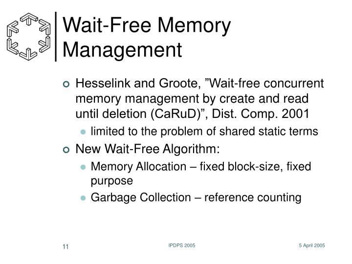 Wait-Free Memory Management