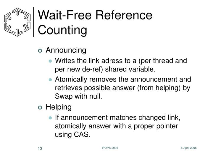 Wait-Free Reference Counting