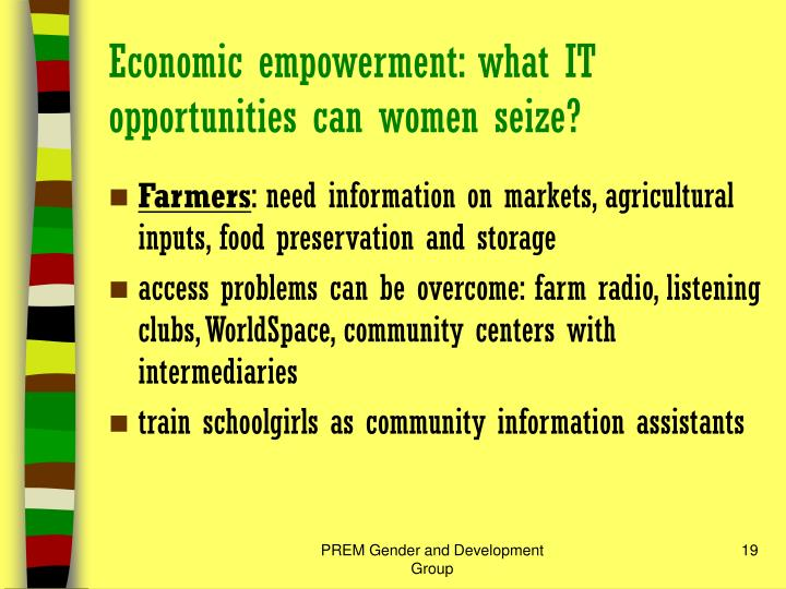 community radio and women empowerment Power, empowerment and community radio: media by and for women in nepal hence, community radio as media by and for the communities is a pro-people media it has an important role in different stages of social change and development.