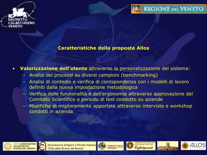 Caratteristiche della proposta Allos