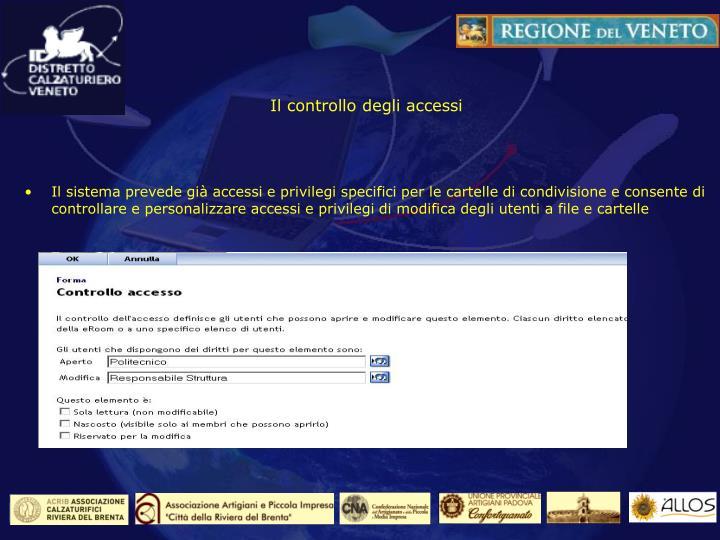 Il controllo degli accessi