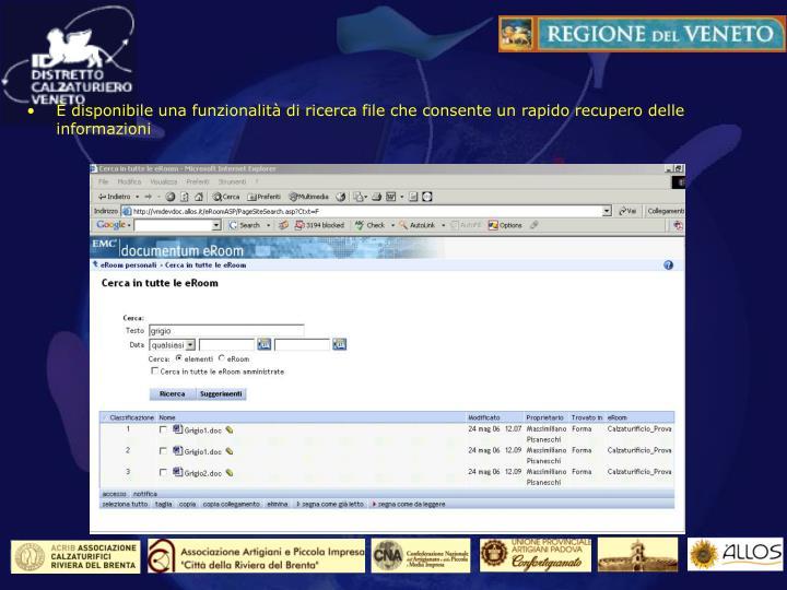 La funzione di ricerca dei file