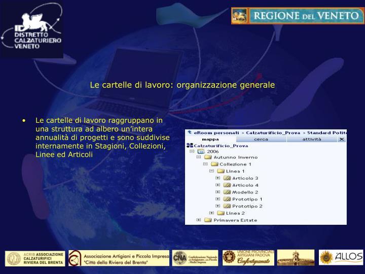 Le cartelle di lavoro: organizzazione generale