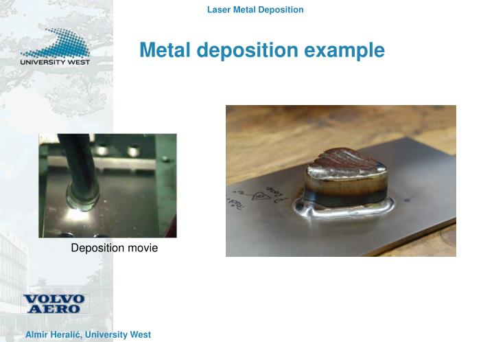 Metal deposition example