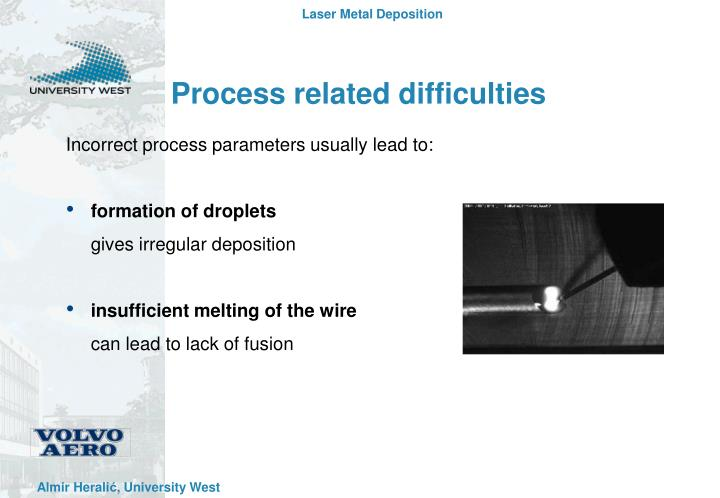 Process related difficulties