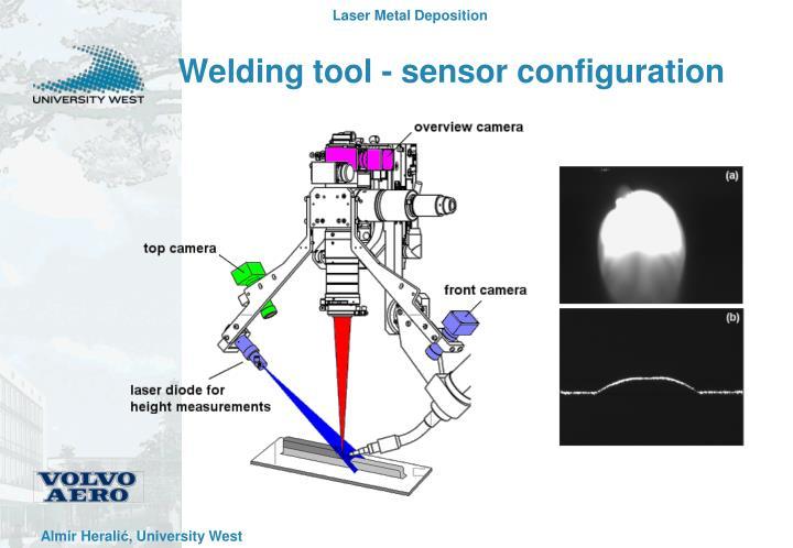 Welding tool - sensor configuration